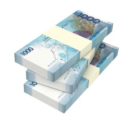 Philippines money isolated on white background. 3D illustration. Stock Photo