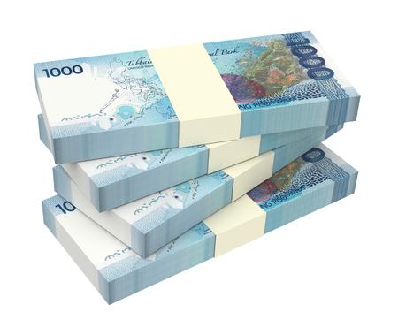 Philippines money isolated on white background. 3D illustration. 스톡 콘텐츠