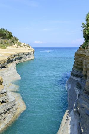 Canal damour in Sidari - Corfu island in Greece Stock Photo