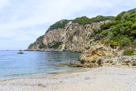 ionian: View of the Ionian Sea in Paleokastritsa resort. Corfu Island, Greece