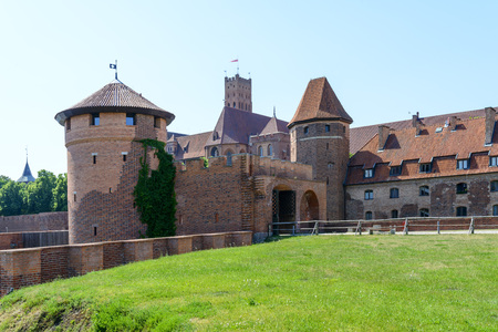 Medieval Teutonic Knights castle in Malbork, Poland