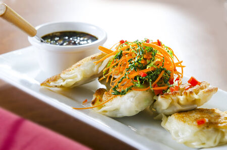 potstickers: Asian Potstickers with Dipping Sauce