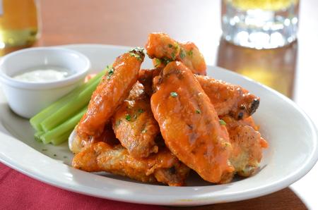 Buffalo Chicken Wings on Plate