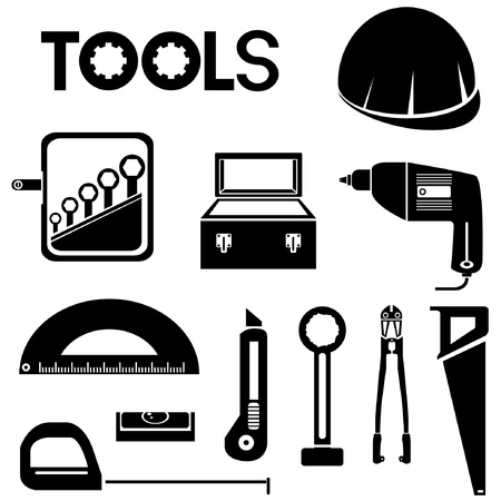 tools, mechanical equipment icon set, engineering tools Stock Vector - 20282249