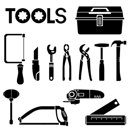 tools, mechanical equipment icon set, engineering tools Stock Vector - 20282248