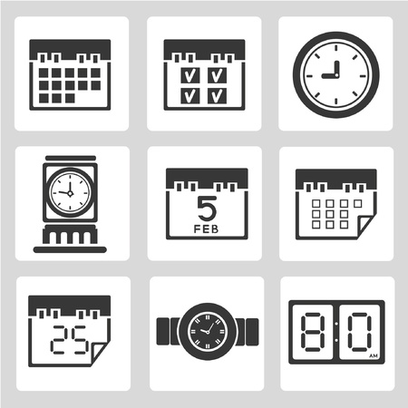 calendar icons set, schedule icons Stock Vector - 20282260