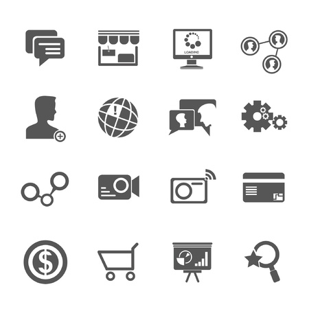 world wide web: social media icons vector, internet icons