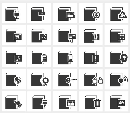 treatise: vector of book icons