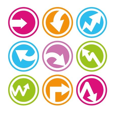 arrows, arrow in round buttons, icons Stock Vector - 20282231