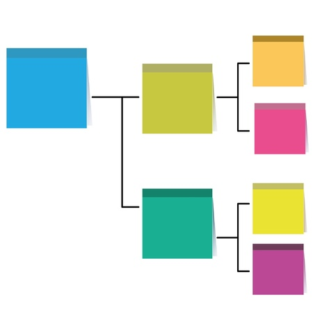 business diagram, organization chart, structure diagram, paper note theme Vector