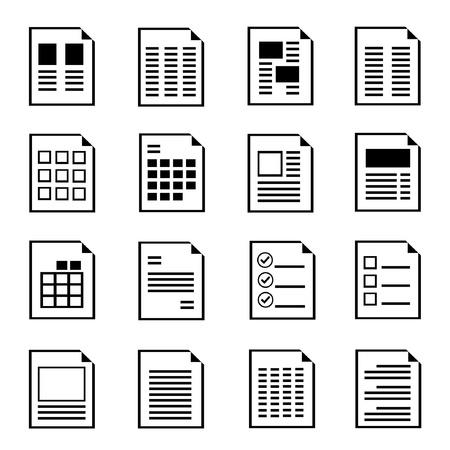Plantilla de formulario del documento, los iconos de documento Foto de archivo - 20608900