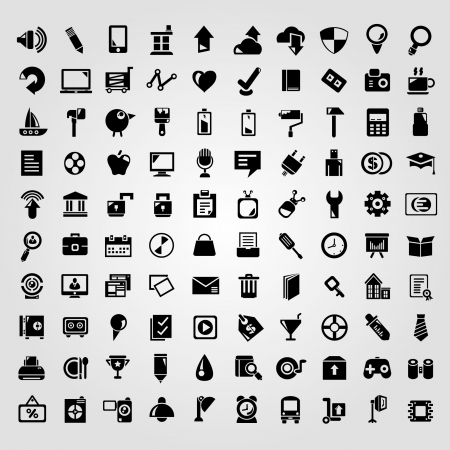 big set of web apps icons, internet icon set Vector