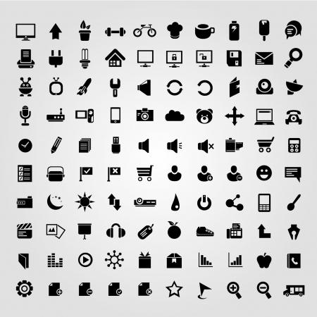 electronic book: big set of internet icons, web icons Illustration
