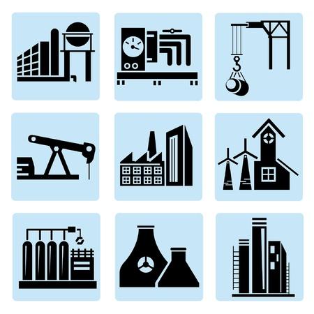 thermal power plant: iconos de la industria, plantas de energ�a