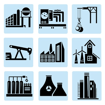 industry icons, power plant Stock Vector - 20608910