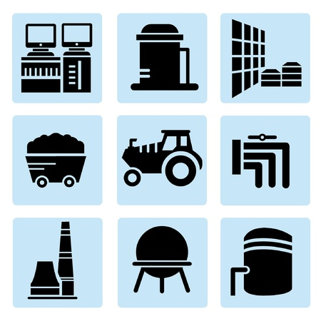 industry icons Stock Vector - 20608909