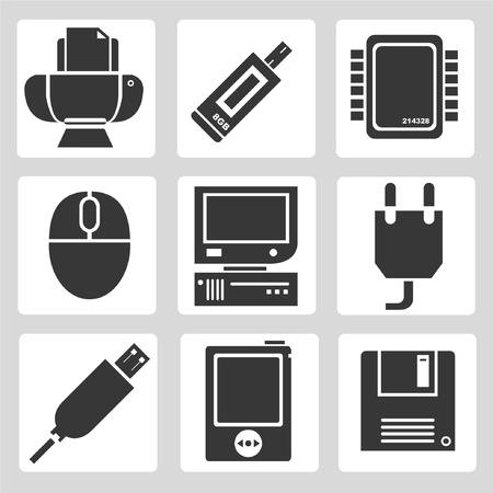 usb cable: electronics device icons, sign, computer