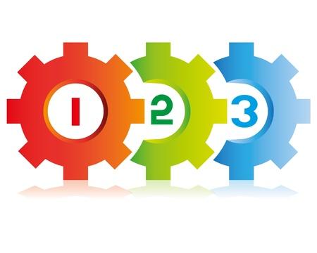 üzleti folyamat diagram, fogaskerék téma folyamat sablon