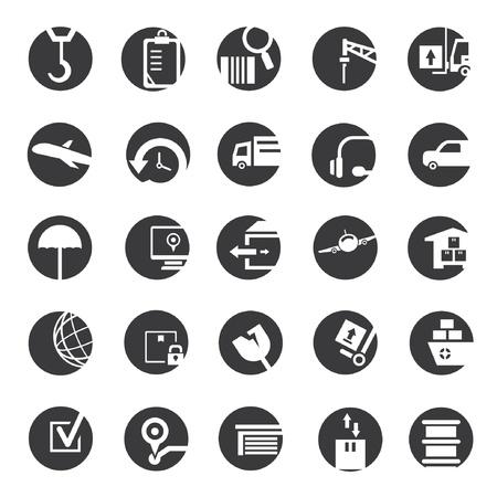 shipping button icons Vector