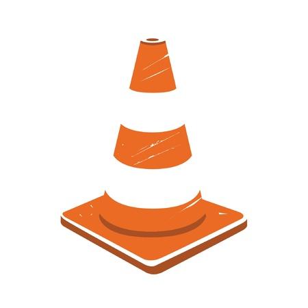 under construction cone Vector