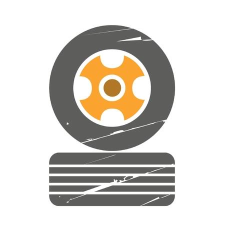 tire shop: retro tire, garage symbol