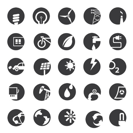 energy button icons Stock Vector - 20959606