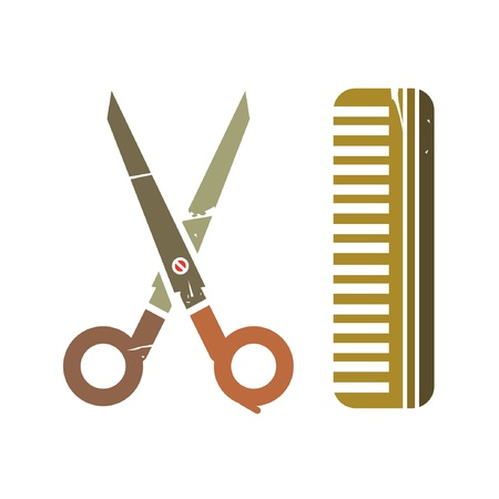 retro barber shop Stock Vector - 20959608