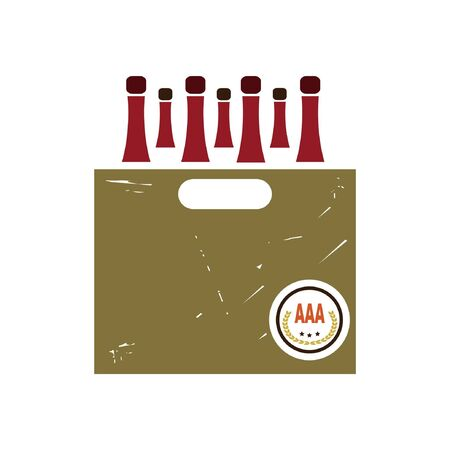 selection box: retro wine bottles