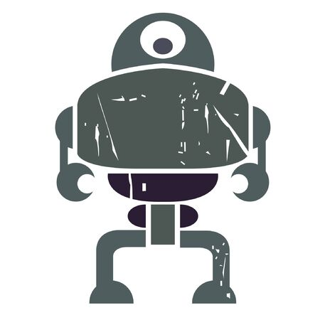 robot, shabby robot, vintage robot Stock Vector - 20959632
