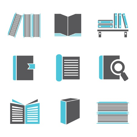 books set, book icons