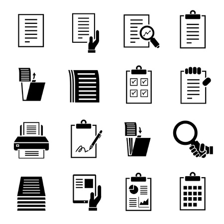 stack of files: document icons