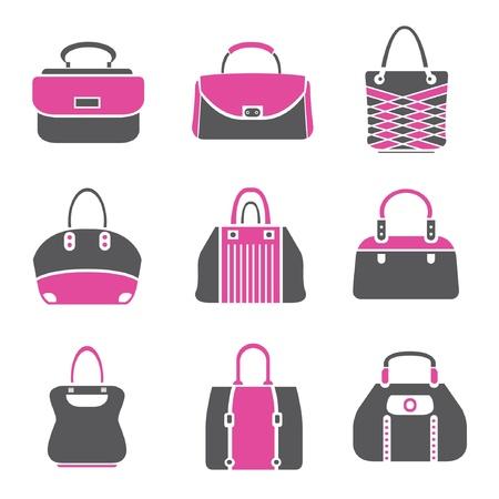 suede: fashion bag set, bag icons