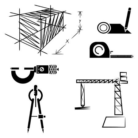building inspector: drawing line set, sketch line