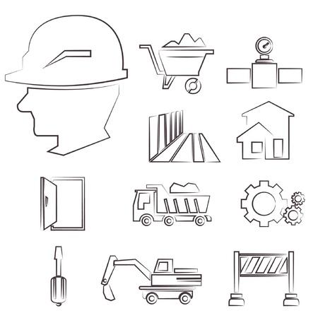 construction drawing line set, sketch line set, sketch line Stock Vector - 20959677