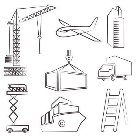 construction drawing line set, sketch line Stock Vector - 20959678