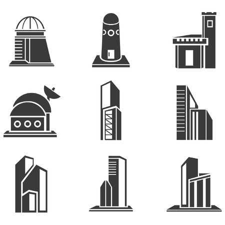 building set, building icons Vector