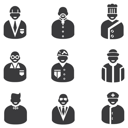 police man: avatar icons, man icons, people icons and profession icons