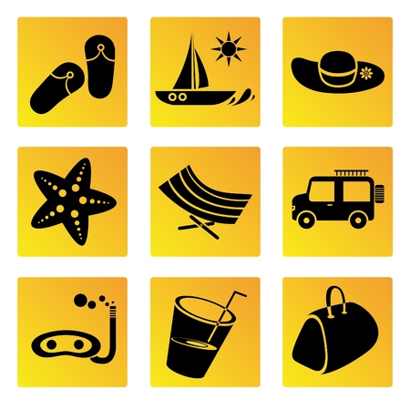 relent: holiday and travel icons set