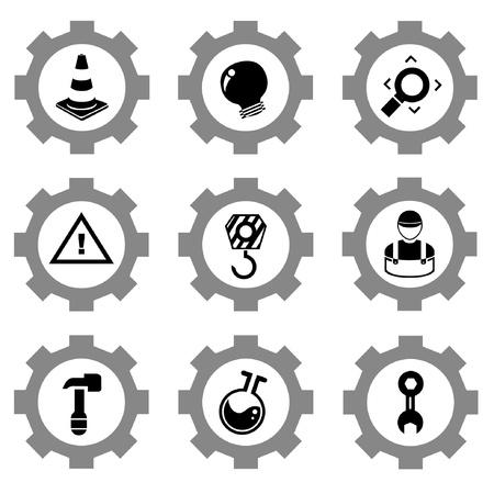lab technician: gear function set Illustration
