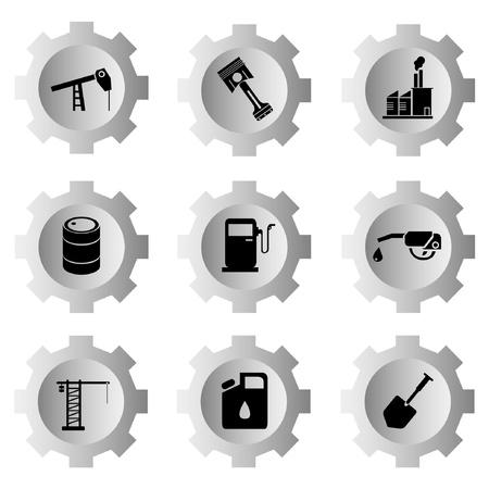 structuring: gear function set Illustration