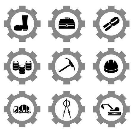 gear function set Stock Vector - 21506139
