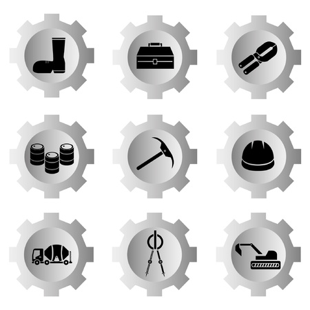 gear function set Stock Vector - 21506144