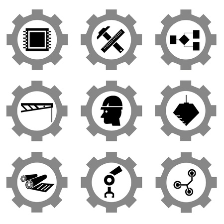 gear function set Stock Vector - 21506154