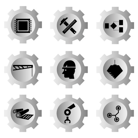 working machines: gear function set Illustration
