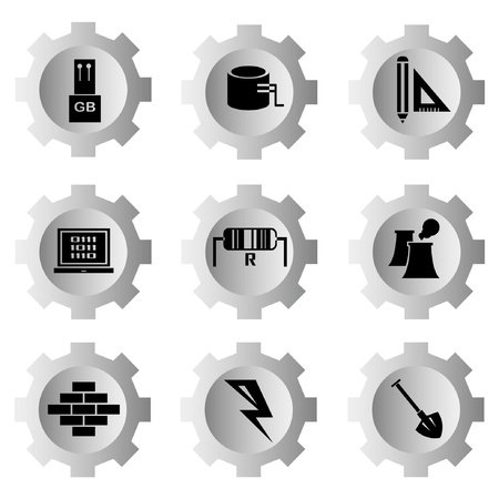 gear function set Stock Vector - 21506138