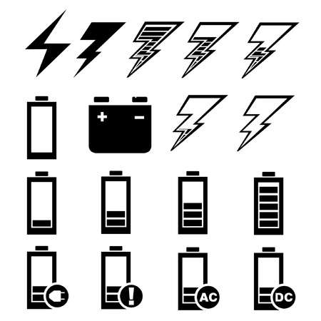 ac voltage source: set of battery charge Illustration