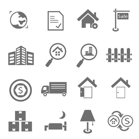 hotel service icons, real estate icons Illustration