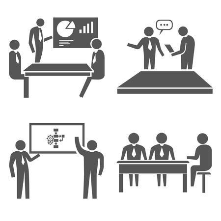 employer: office concept set