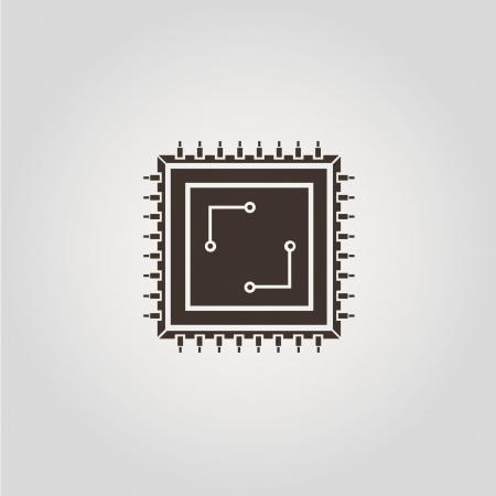 microchip symbol Stock Vector - 21506322