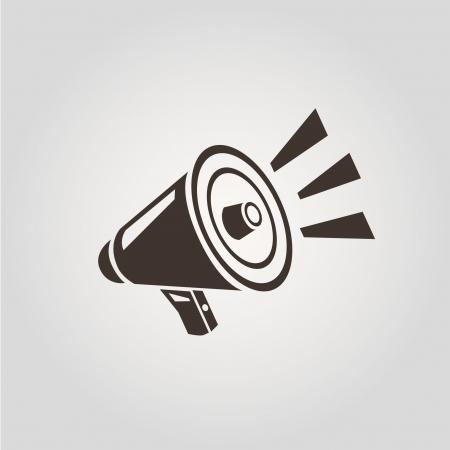 loudspeakers: megaphone concept Illustration